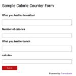 Calorie Counter Form