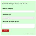 blog correction form