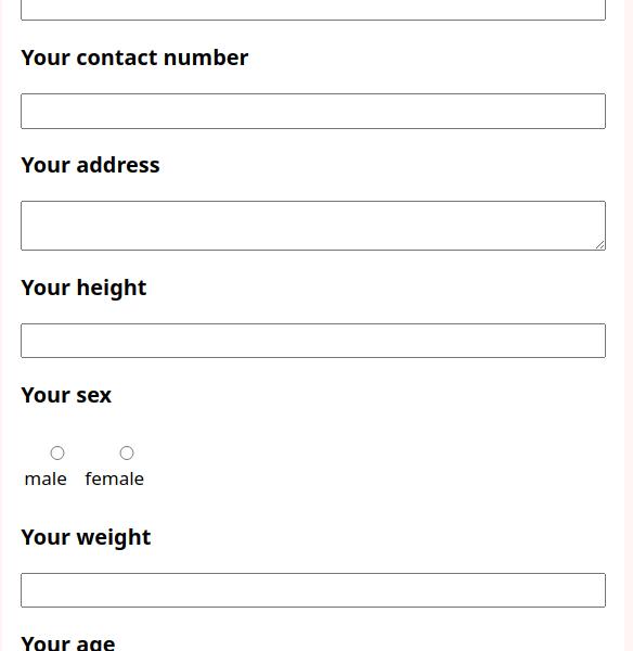 sample marathon registration form